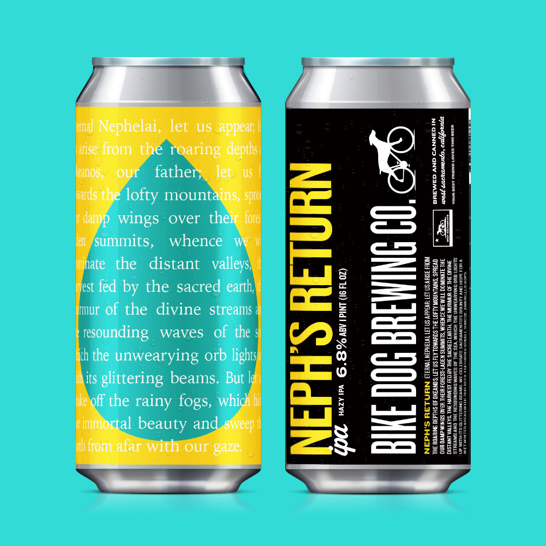 Neph's Return Hazy IPA can label